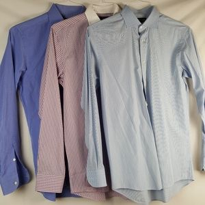 Lot of 3 Ralph Lauren Mens Size 15.5 Neck Shirts